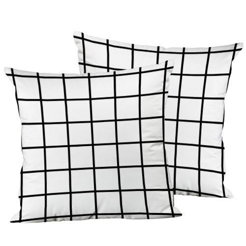 Подушка декоративна Біла клітинка 45х45 см (45IS_URB003)