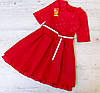 Детское нарядное платье р.140-152 (без пояска) Виктория