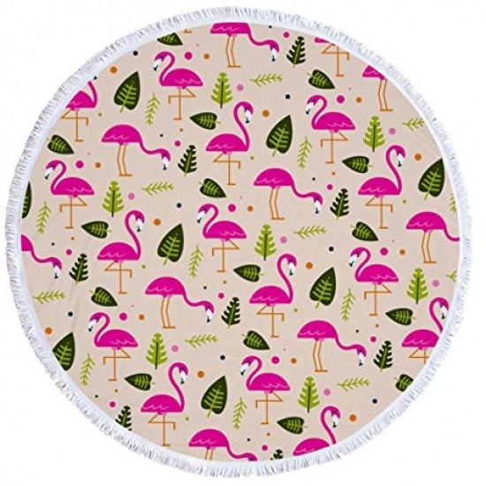 Пляжный Коврик Фламинго и Листья опт и розница