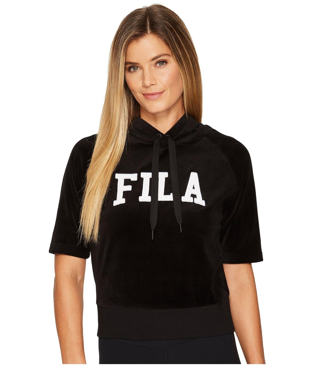 68ed76ab Толстовка Fila Ariana Short Sleeve Hoodie Black - Оригинал - FAIR -  оригинальная одежда и обувь