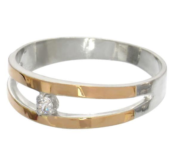 """Серебряное кольцо с накладками золота """"Калифорния"""""""