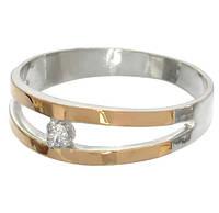 """Серебряное кольцо с накладками золота """"Калифорния"""", фото 1"""