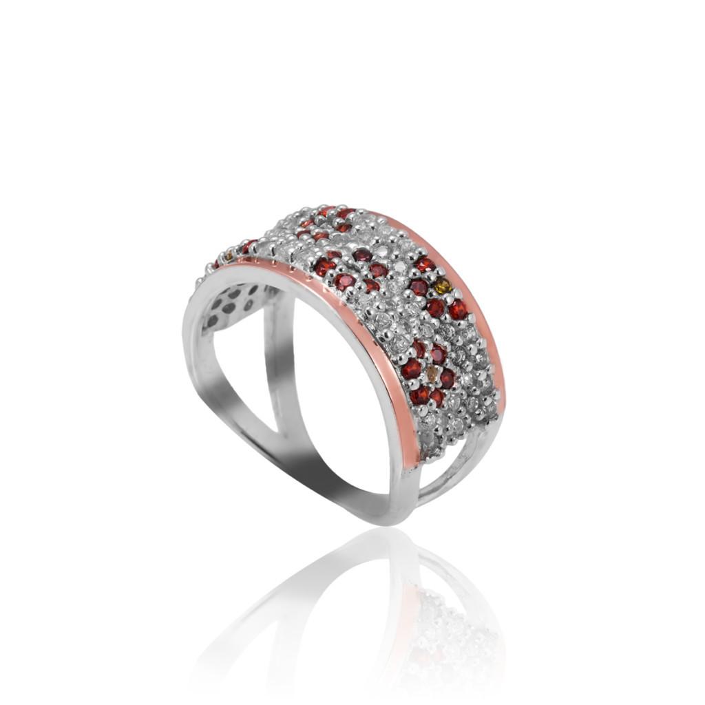 Серебряное кольцо с накладкой золота ШАРЛОТТА