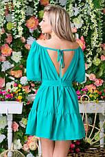 Платье сарафон спина на шнуровке  коттон , фото 2