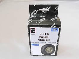 Резиновые колеса с дисками для сборной модели самолета F-14 Tomcat. 1/72 HALBERD MODELS 7226
