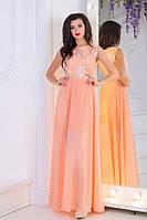 Платье женское нарядное  персикового цвета , фото 1