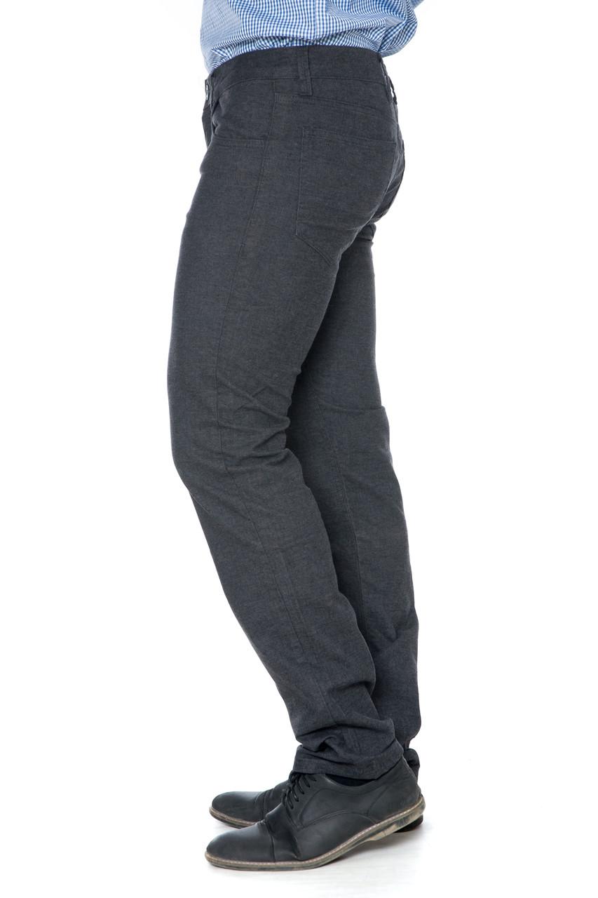 Мужские джинсы с косыми карманами Franco Benussi 16-140 серые