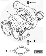 4050217 Турбокомпрессор (Турбина) на двигатель Cummins, Куминс, Каминс 6C8.3 QSL9