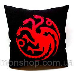 Подушка Игры Престолов дом Таргариенов (Targaryen)