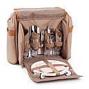 Набір для пікніка КЕМПІНГ Almond СА-576 (посуд на 4 персони + сумка з термо-відсіком), фото 3
