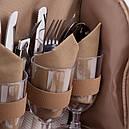 Набір для пікніка КЕМПІНГ Almond СА-576 (посуд на 4 персони + сумка з термо-відсіком), фото 8