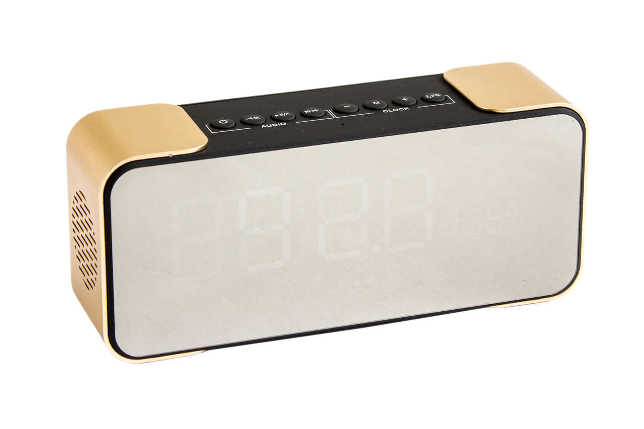 Колонка Bluetooth РТН-305 + часы + будильник
