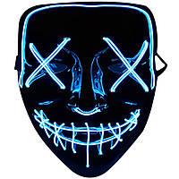 """Неоновая маска """"Судная ночь"""" (БЕЗ ВЫБОРА ЦВЕТА) + ПОДАРОК: Наушники для Apple iPhone 5 -- БЕЛЫЕ MDR IP"""
