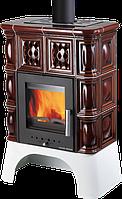 Изразцовая печь камин на дровах c водяным контуром Haas+Sohn Treviso Коричневая., фото 1
