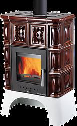 Изразцовая печь камин аква Haas+Sohn Treviso коричневая