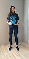 Брюки облегающие бенгалиновые высокая резинка, фото 1