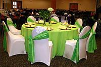 Чехлы на любые стулья, скатерти, юбки, оформление деловых мероприятий тканями, цветами, шарами.