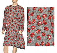 Cornette 110-18 Ночная рубашка мужская (рубашка, шапочка) (2 шт.) (624901, grey / red (серо-красный))
