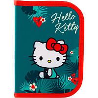 Пенал школьный Kite для девочки без наполнения 1 отдел 1 отворот Hello Kitty HK19-621