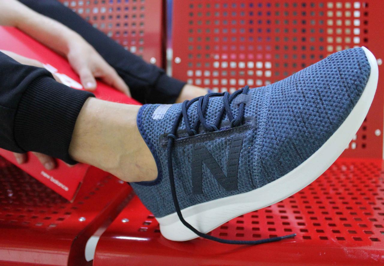 Оригинальные синие летние кроссовки New Balance FuelCore Coast V4 MCSTLRT4