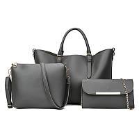 Женская сумка клатч, косметичка 3 в 1  черный, синий , зелёный , розовый, серый .
