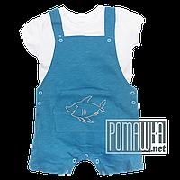 Детский 80 7 8 9 мес ромпер песочник и футболка для мальчика новорожденных малышей из КУЛИР-ПИНЬЕ 4668 Голубой