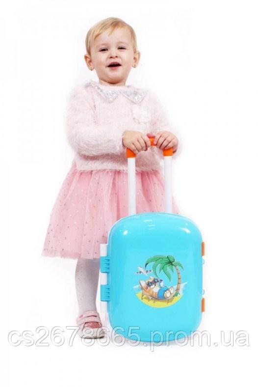 Чемодан игрушечный 6108 Технок, чемодан на колесах