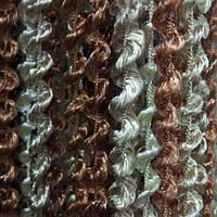 Шторы нити Спираль Радуга шоколадный, коричневый, бежевый №8+10+14