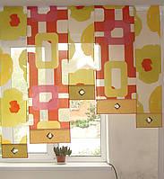 Японские панельки салатово-оранжевый
