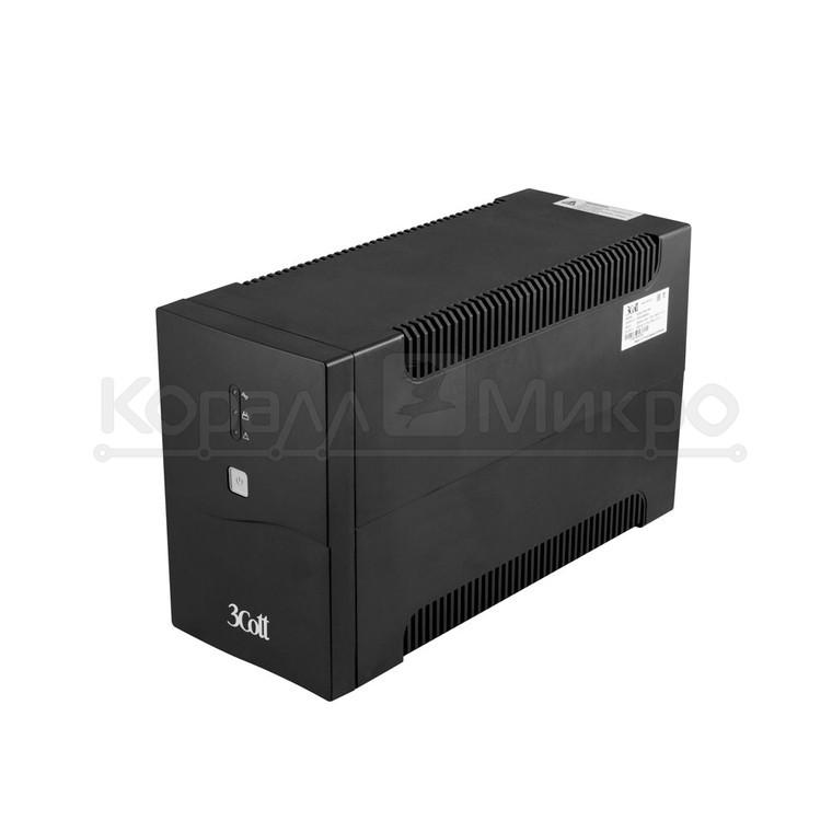ИБП 3Cott-1500-CNL, 1500 ВА / 900 Вт,USB, AVR, RJ11, RJ45, 4*EURO+2*IEC