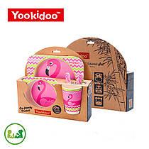 """Набор бамбуковой посуды """"Фламинго"""""""