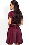 Платье-мини из атласа-жатка Д-1649, фото 2