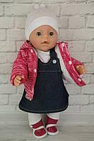 Комплект с розовой курткой и ботинками - одежда и обувь для кукол типа Baby Born