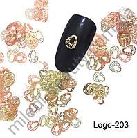 Логотипы - Оправа для жидких камней Капля (овал, золото) Logo-203