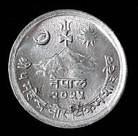 Монета Непала 2 пайса 1968 г.