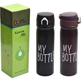 Термос - кружка My bottle «Green Life» 0,5 литра 24×6,5 см