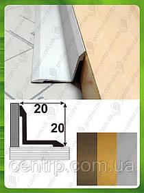 Угол внутренний декоративный 20мм*20мм. АВ 20*20 анод