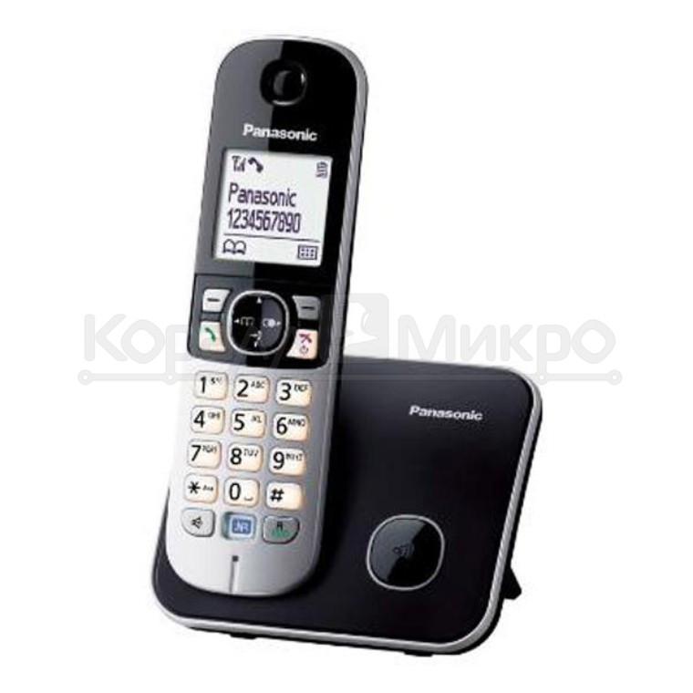 Телефон PANASONIC KX-TG6821RUB, DECT (черный)