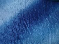 Однотонная ткань для  штор жатка радуга  голубая