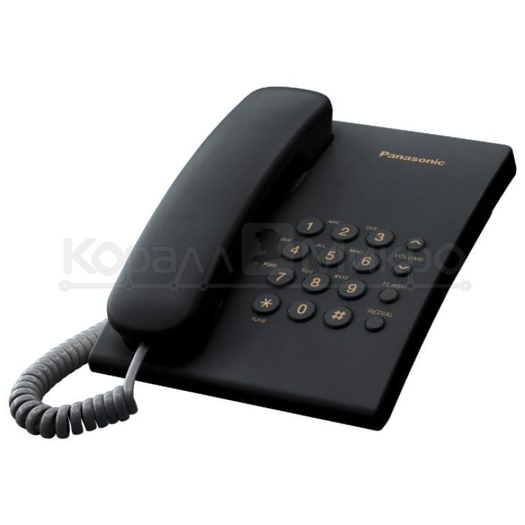 Телефон PANASONIC KX-TS2350RUB (черный)