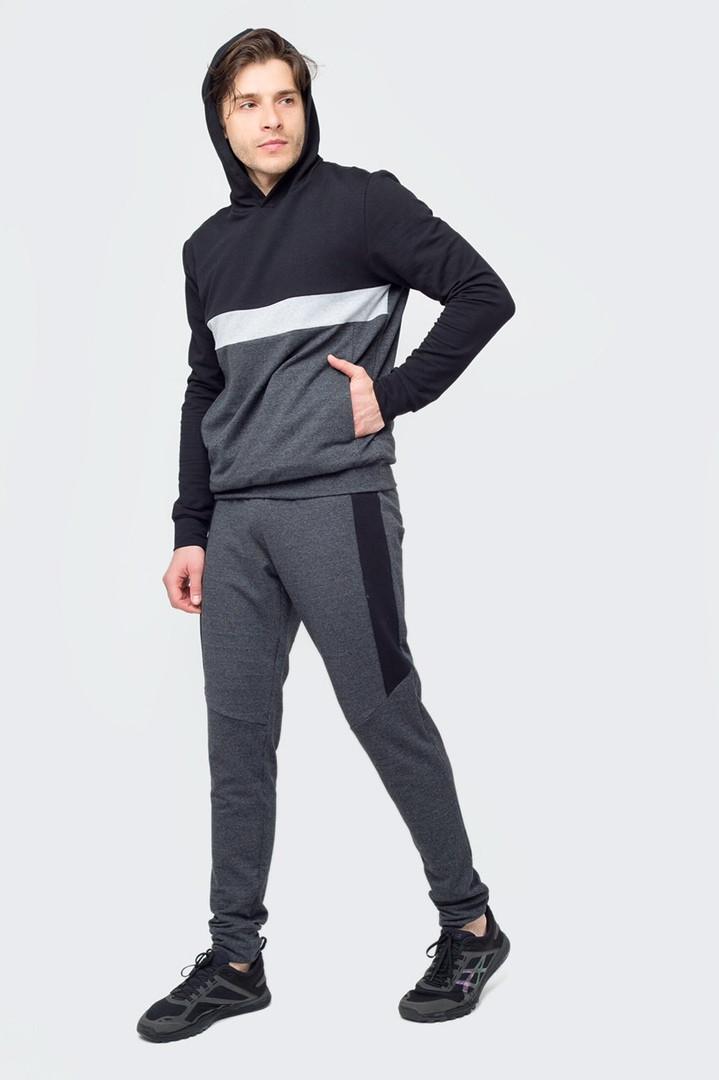 5ff892d3a9d4 Мужской спортивный костюм черный