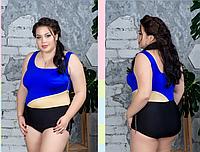 Купальник совместный для пышных женщин, с 48-98 размер, фото 1