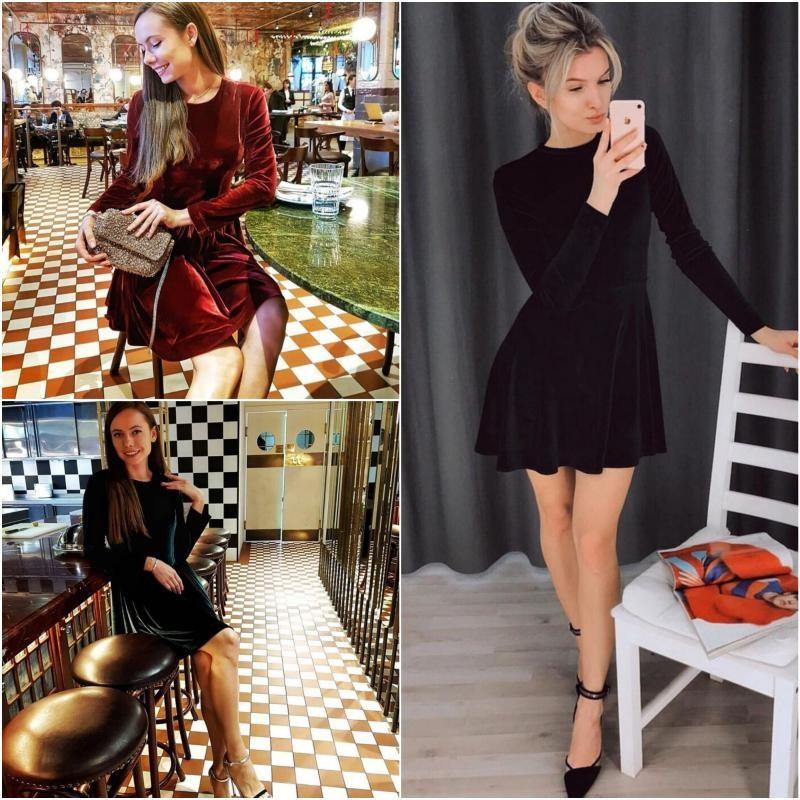 Платье бархат мод. 070