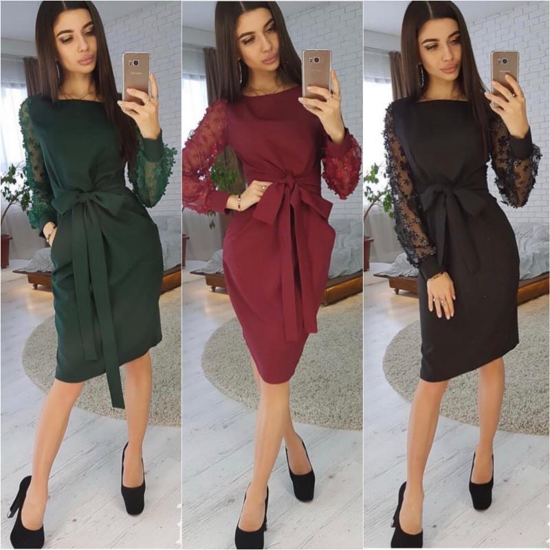 Платье рукава сетка мод.8022