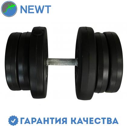 Гантель наборная композитная в пластиковой оболочке Newt Rock Pro-R 21,5 кг