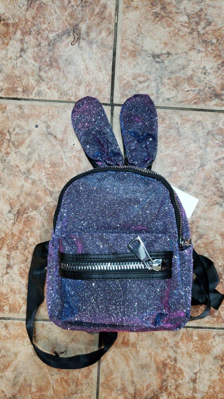 Рюкзак городской с ушами для девочек размер 24x20x10