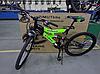 Спортивный Подростковый велосипед Azimut Tornado 24 дюйма,дисковые тормоза черно-салатовый
