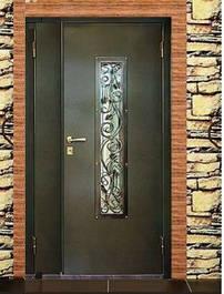 Входные двери для улицы - металл+МДФ