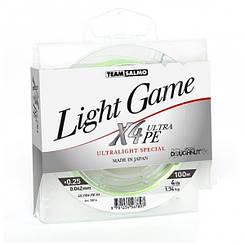 Шнур TEAM SALMO LIGHT GAME X4 ULTRA PE 100 m 5014-004