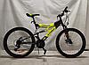Спортивный Подростковый велосипед Azimut Tornado 24 дюйма,дисковые тормоза черно-желтый